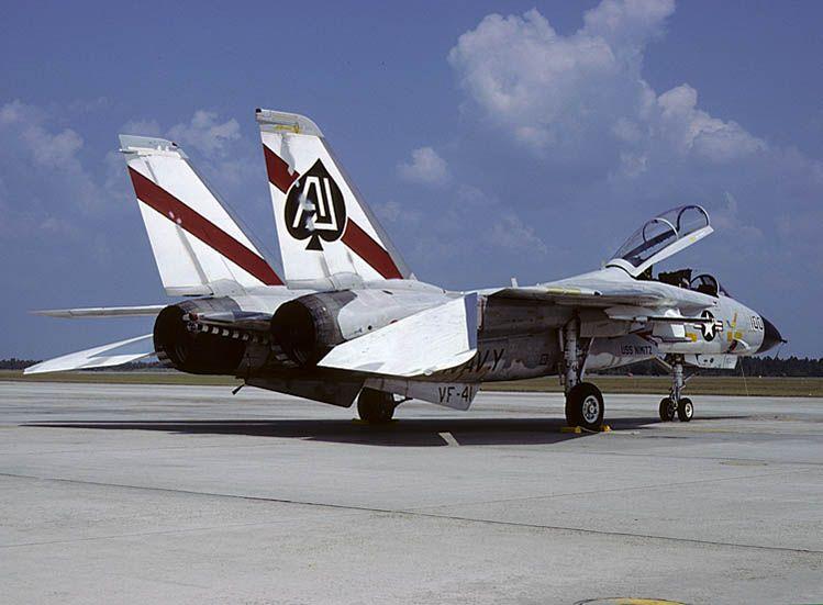 F-14A(160379) AJ-100, VF-41, USS NIMITZ Oct. 1978