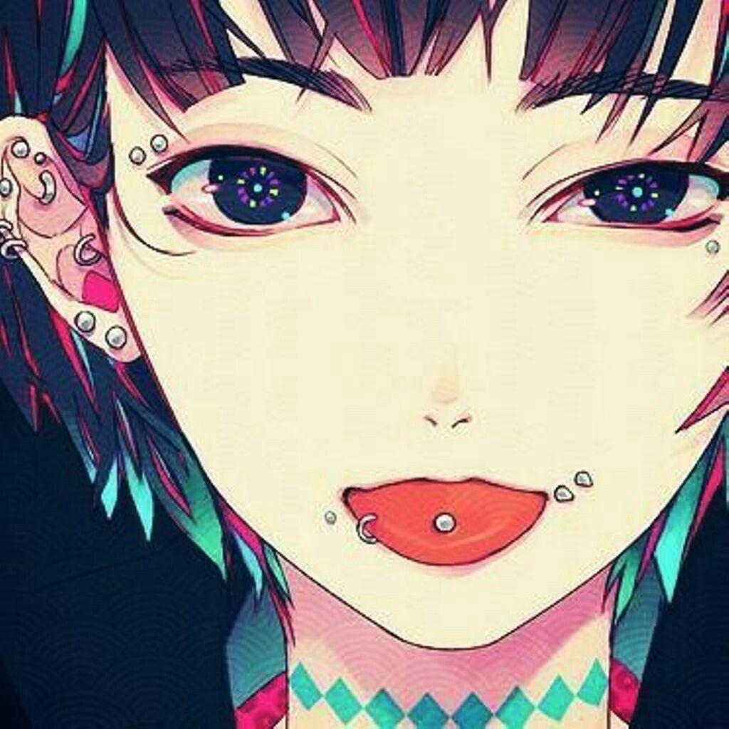 """Résultat de recherche d'images pour """"manga girl piercing"""""""