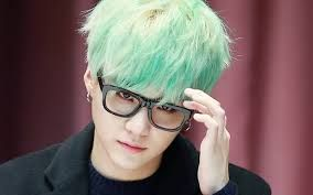 Suga With Glasses And Mint Hair Is My Death
