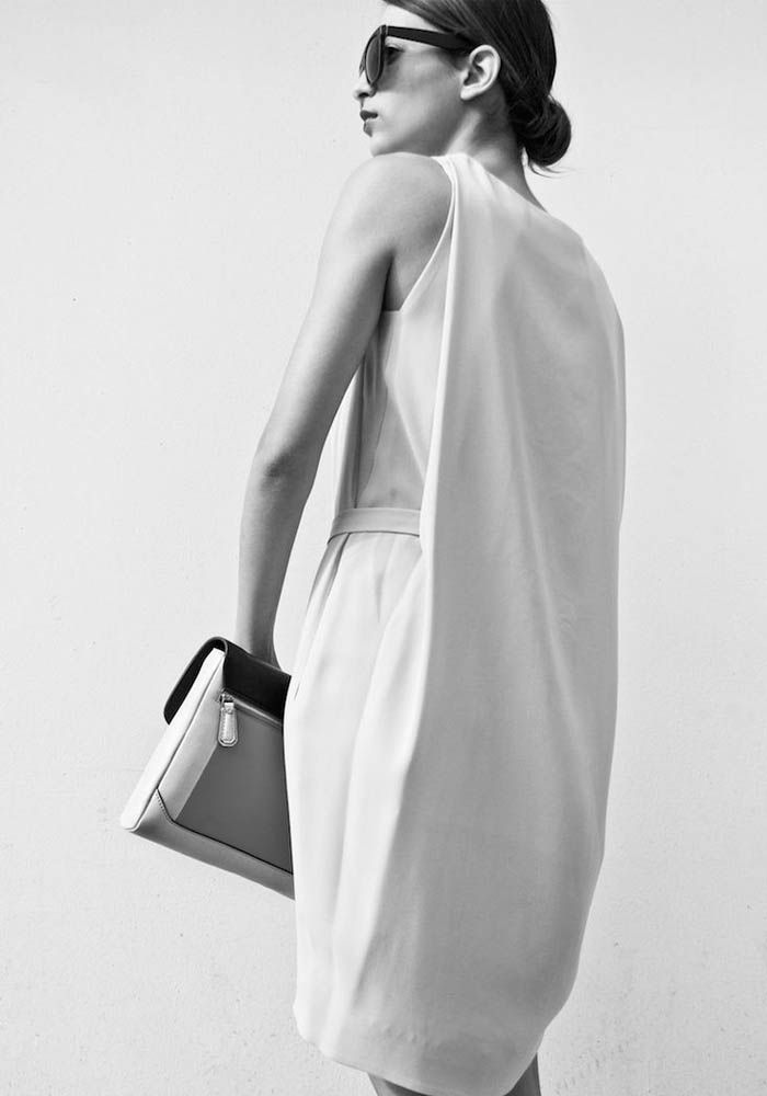 Sleek White Dress - minimal fashion, chic minimalist style