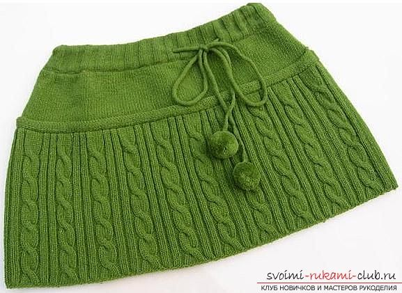Связать юбку на девочку 1 год