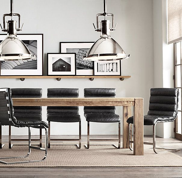 Parsons Reclaimed Russian Oak Dining Table | Rectangular Dining ...