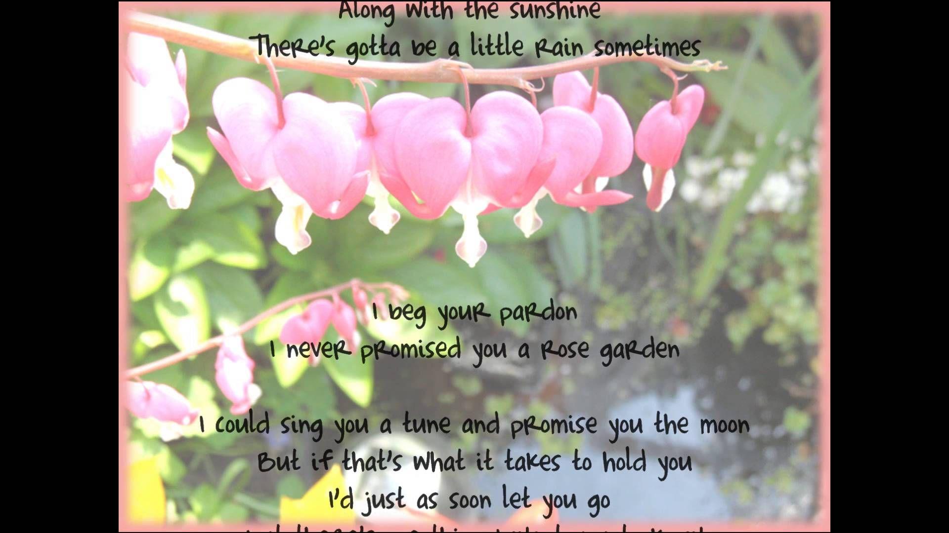 Rose Garden Lynn Anderson *Lyrics* Lynn,erson, Rose