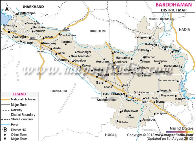 District Map of Barddhaman | District Maps | Pinterest | West bengal