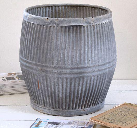 Large Vintage Zinc Dolly Tub Early 1900s Galvanized Tub Planter Galvanized Tub Wash Tubs