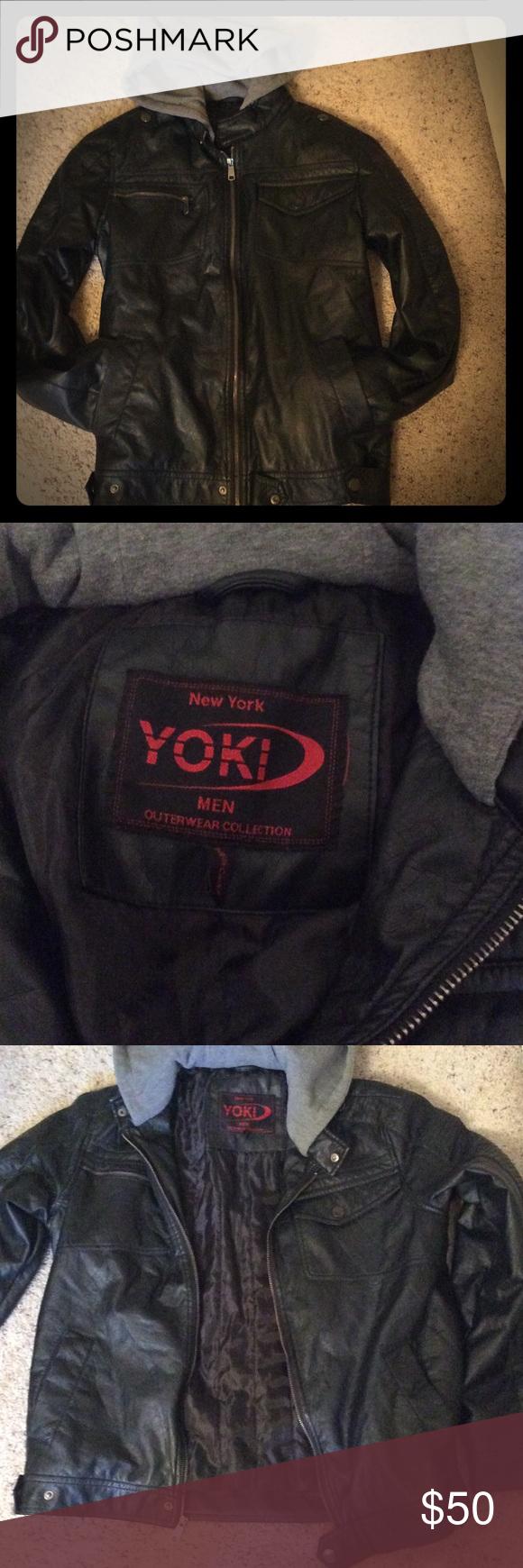 Nwot Men S Sz S Yoki Black Lined Hooded Jacket Cute Jackets Jackets Hooded Jacket [ 1740 x 580 Pixel ]