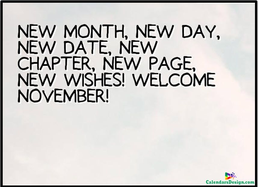 Hello November Month Quotes