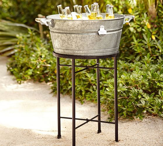 Galvanized Metal Large Party Bucket Stand Pottery Barn Inspiration To Diy Party Bucket Galvanized Metal Metal Tiered Stand