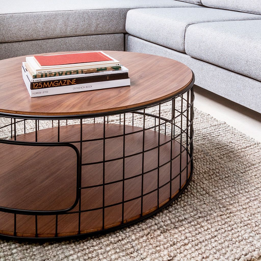 Wireframe Coffee Table In Walnut Design By Gus Modern Coffee Table Dog Crate Unique Coffee Table Coffee Table With Storage [ 1024 x 1024 Pixel ]