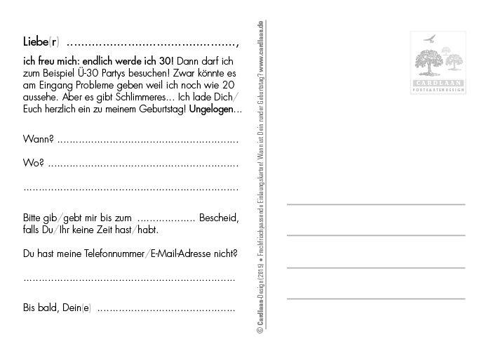 einladung 30. geburtstag (pinoccio) | einladung 30 geburtstag, 30, Einladung
