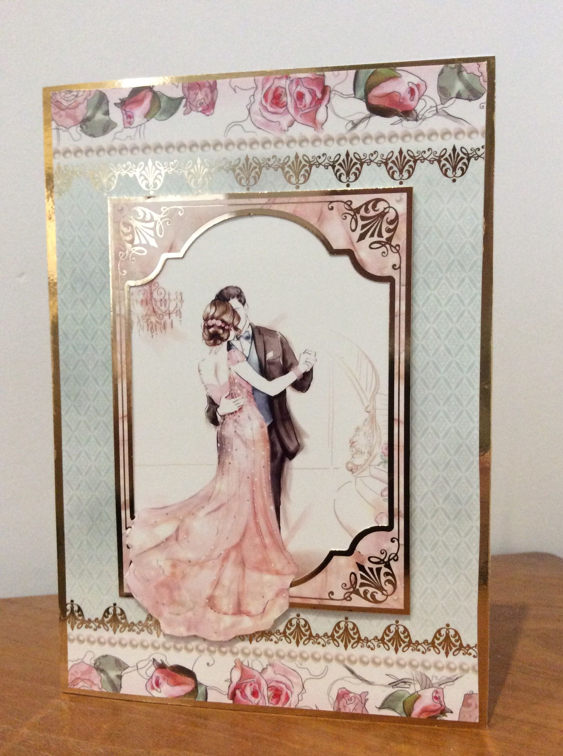 How to scrapbook wedding cards - Wedding Anniversary Card Made With Hunkydory Special Celebrations Kit