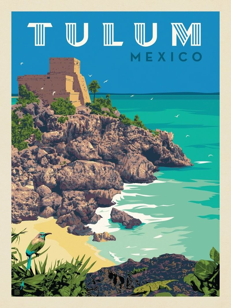 Anderson Design Group Travel Posters Retro Travel Poster Vintage Travel Posters
