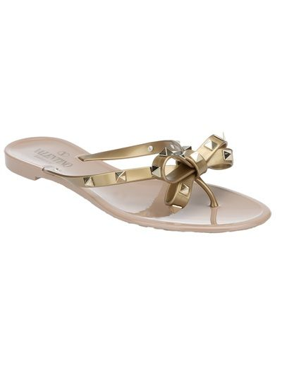 64ed96d6dae0 Nude plastic sandal from Valentino featuring a toe thong design