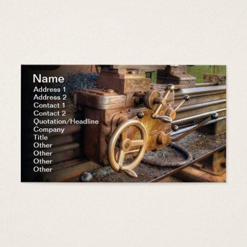 Old Lathe Machine Business Card Zazzle Com Lathe Machine Construction Business Cards Business Cards