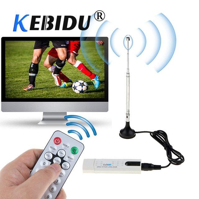 Kebidu USB DVB-T/DVB-T2 TV Receiver Tuner DVB T/C/T2 FM DAB HDTV