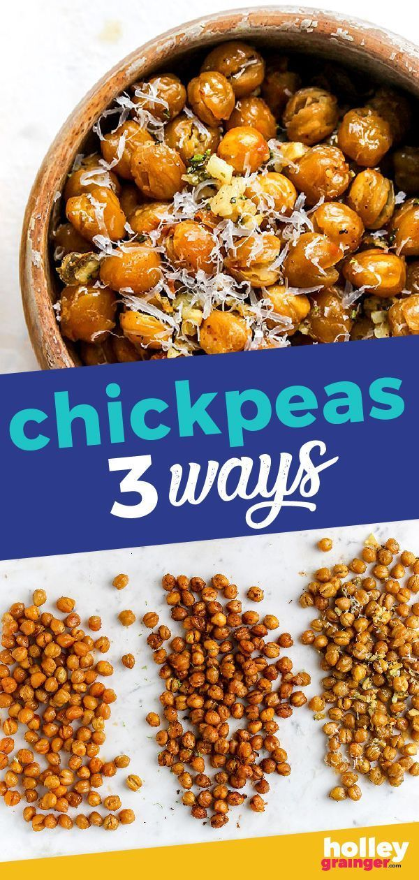 Roasted Chickpeas 3 Ways: Buffalo, Chili Lime and Garlic, Parmesan, Rosemary. Lo...   - Healthy Snacking -