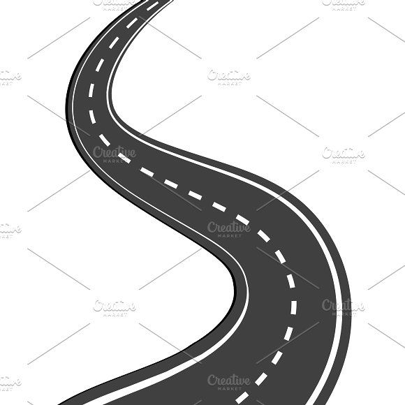 Winding Road Clipart Design Business Illustration Winding Road