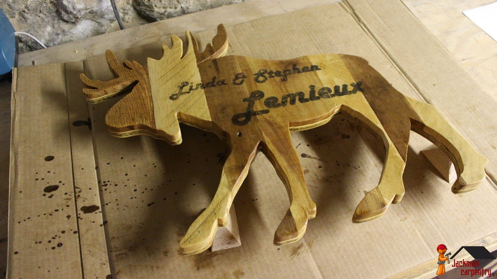 Jackman Carpentry: Rustic Wood Moose Silhouette Pallet Silhouette