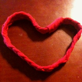 Headband out of an old t-shirt