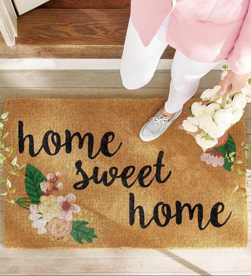 Home Sweet Home Coir Door Mat Grandin Road Sweet Home Door Mat Sweet