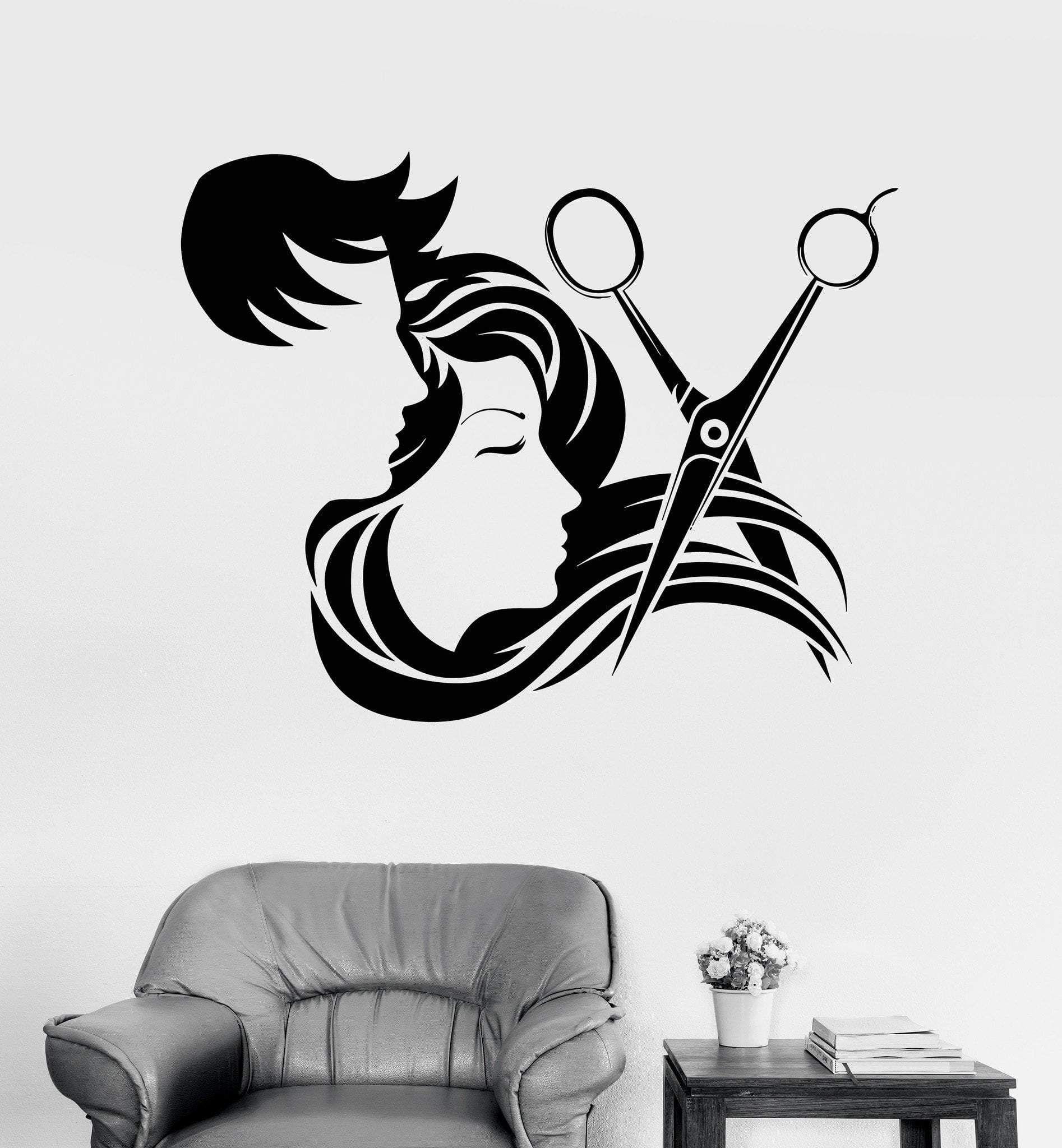 Hairdresser Salon Barber Shop Clock Vinyl Record Wall Art Home Decor Best Gifts