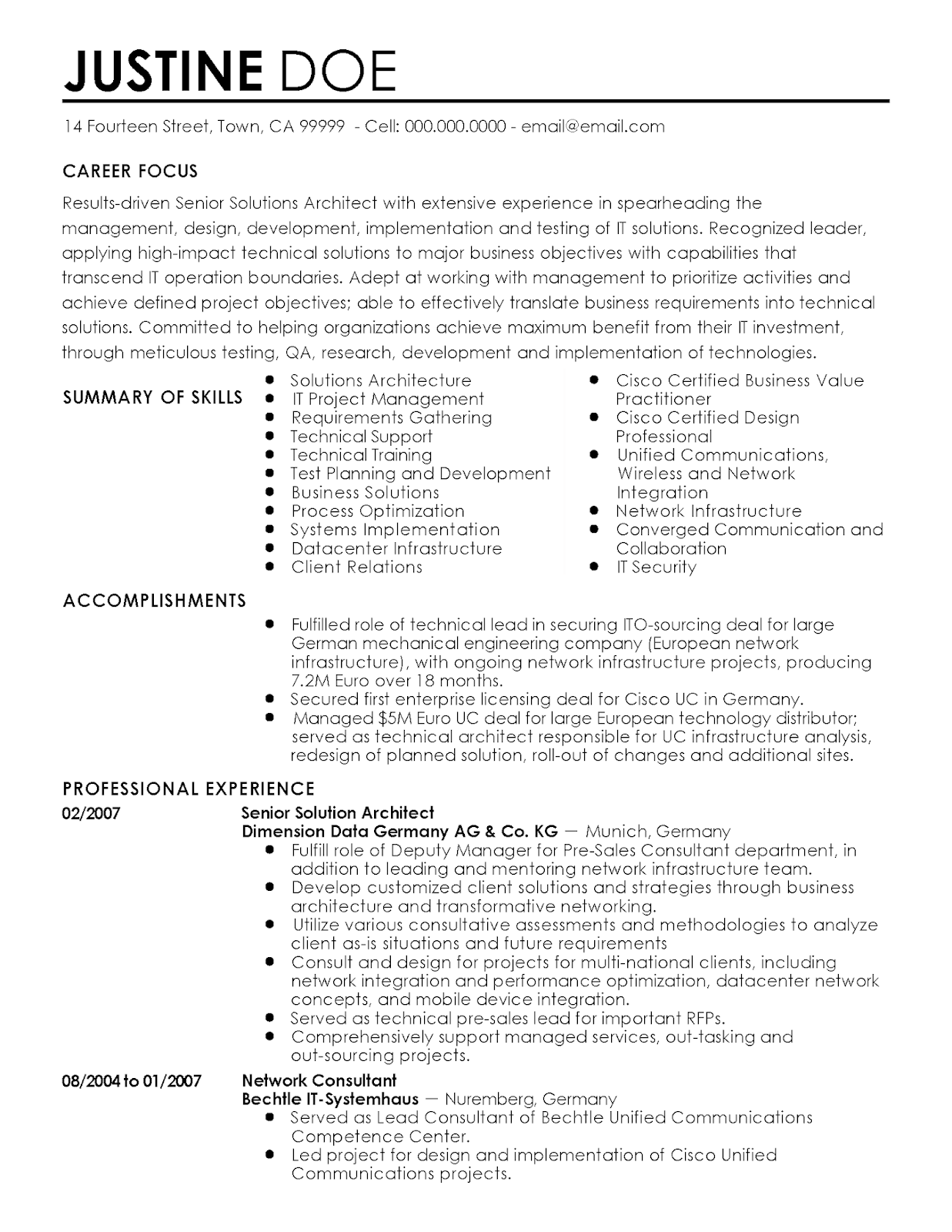 Network Architect Resume Pdf 2019 Network Architect Resume Objective 2020 Network Architect Resume Architect Resume Solution Architect Architect Resume Sample