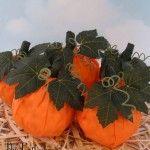 Popcorn Ball Pumpkins
