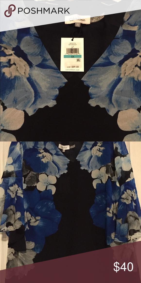 dca5350477 Calvin Klein 0X plus size floral shirt