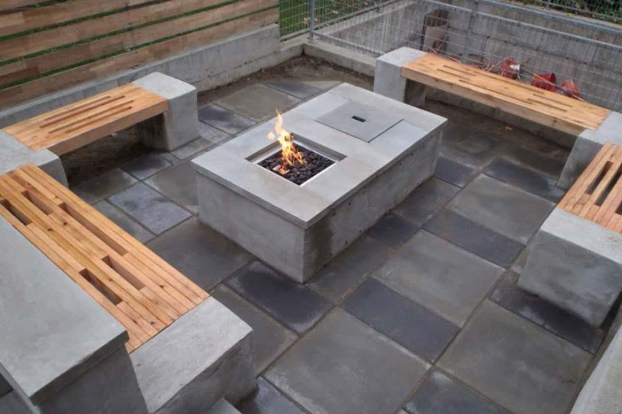 Perfect Ideas On How To DIY Concrete Fire Pit : DIY Concrete Fire Pit Table.
