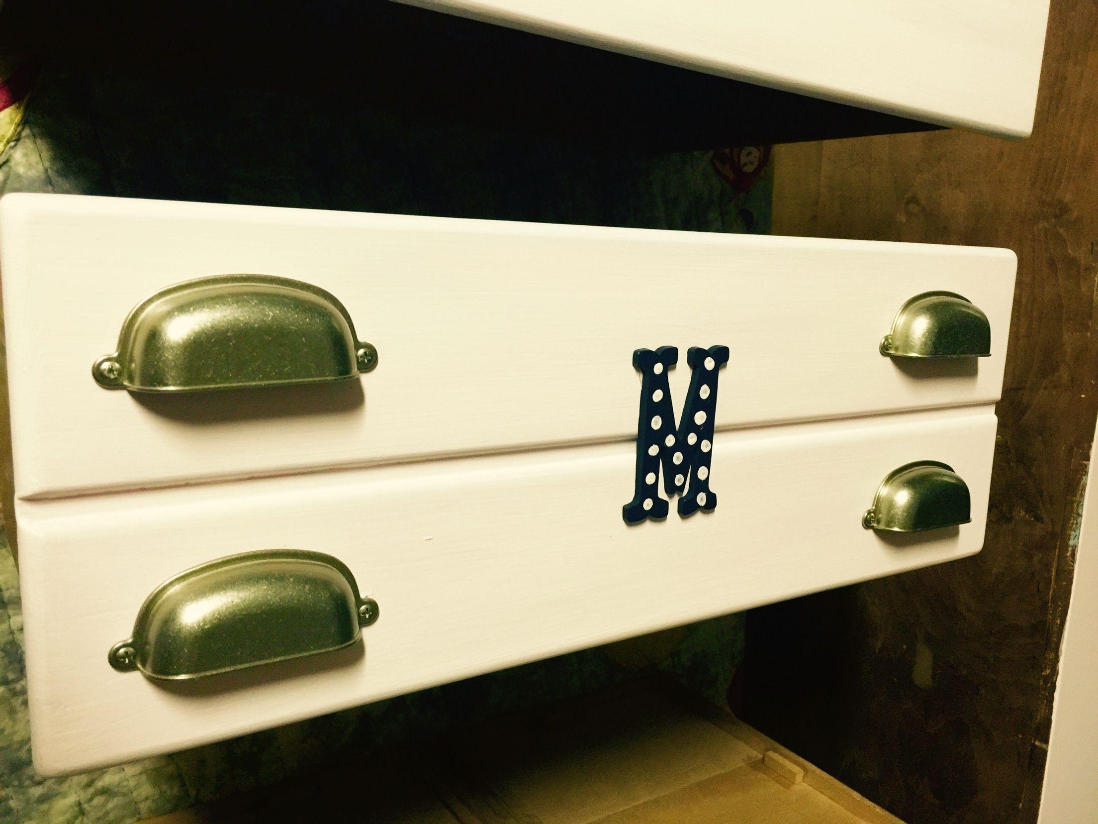 """Personalize a dresser. Valspar Chalky paint - Lowes """"M ..."""