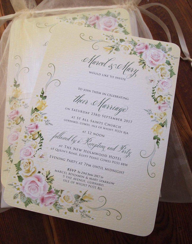 Wedding Invitation Paper Wedding Invitation Templates Rose Wedding Invitations