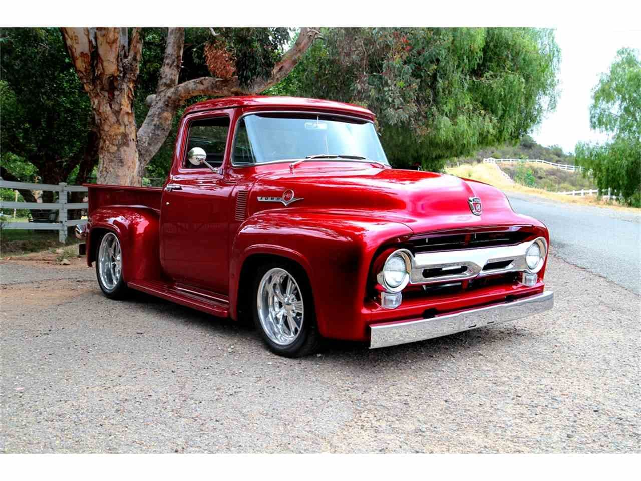 1956 Ford F100 Kandy Apple Red Ford pickup trucks
