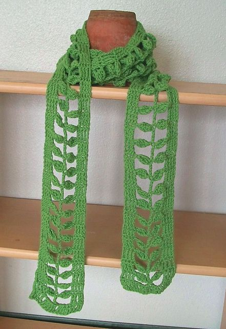 Free Pattern For Little Leaves Scarf Crochetholic Hilariafina