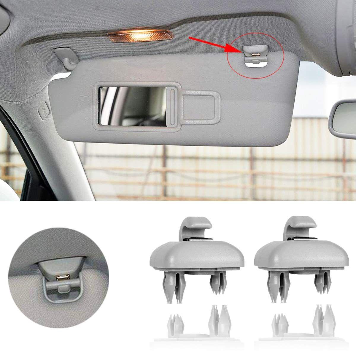 Porpora Booya 2 Pack Interior Sun Visor Hook Clip Bracket For Audi