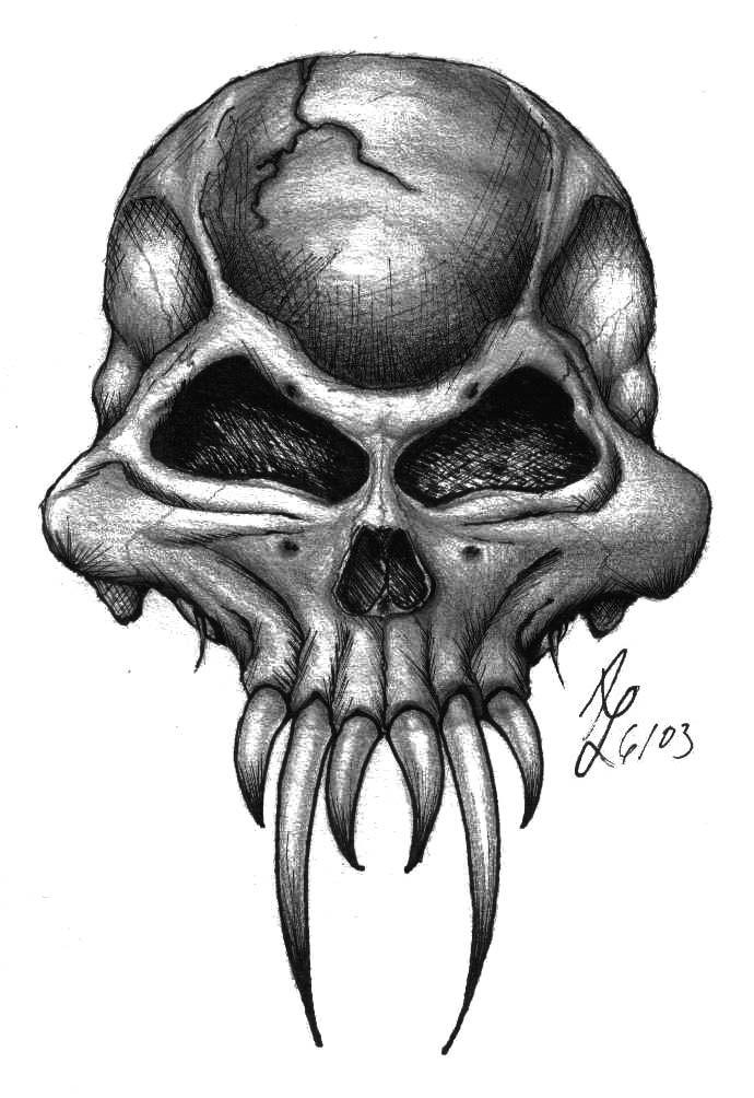 Demon Sketches Demon Skull By Puffnstuff626 Tattoos In 2019