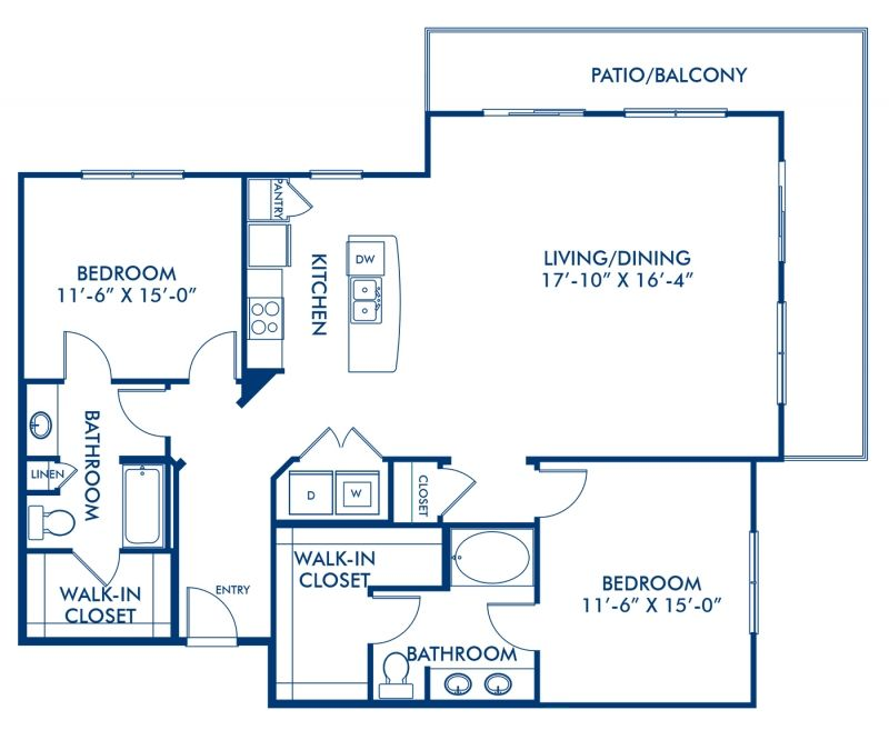 Studio 1 2 Bedroom Apartments In Dallas Tx Camden Design