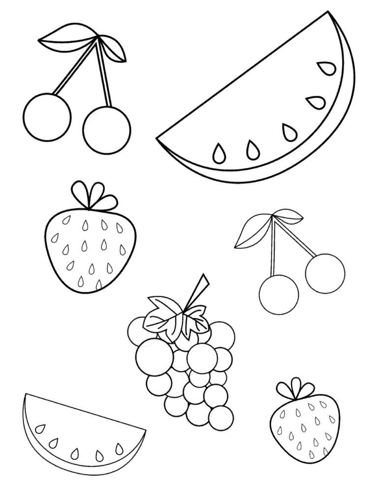 Free Summer Fruits Coloring Page Pdf For Toddlers Preschoolers Fruit Coloring Pages Summer Coloring Pages Preschool Coloring Pages