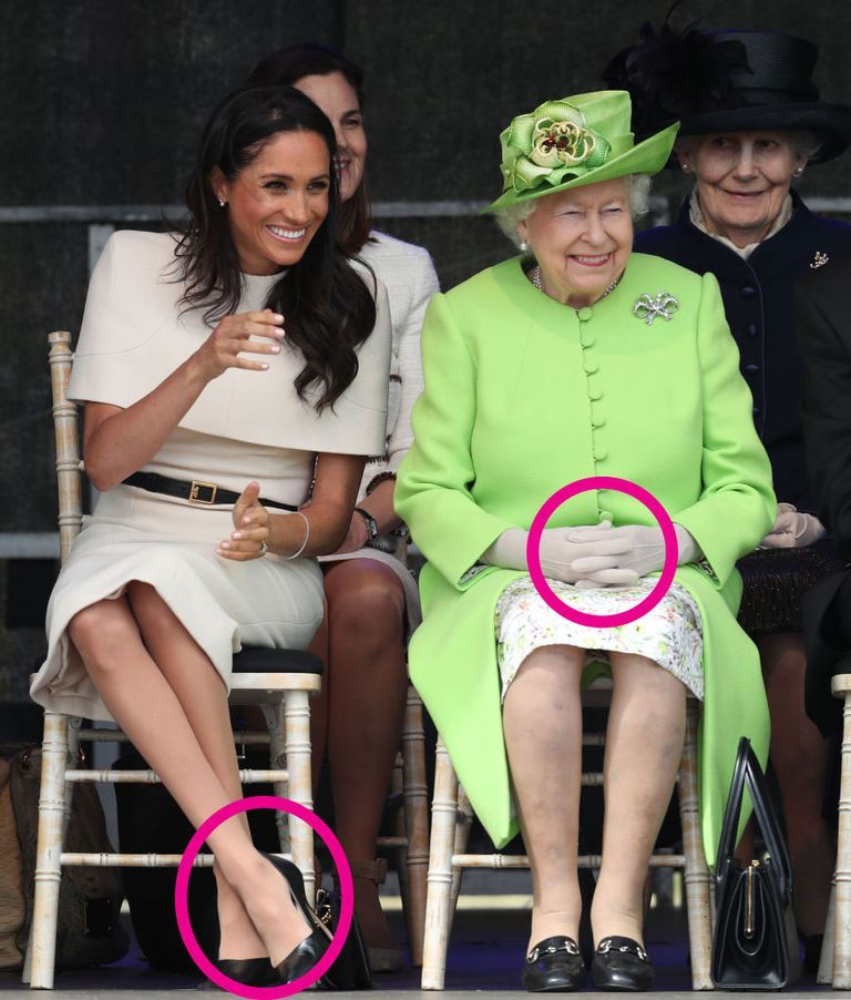 What Meghan Markle And Queen Elizabeth's Body Language
