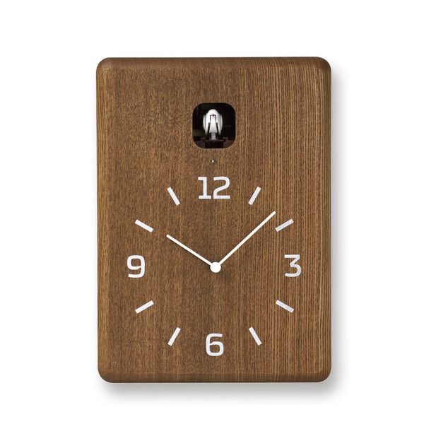 Cucu Wall Clock In Brown In 2020 Wall Clock Clock Modern Cuckoo Clocks