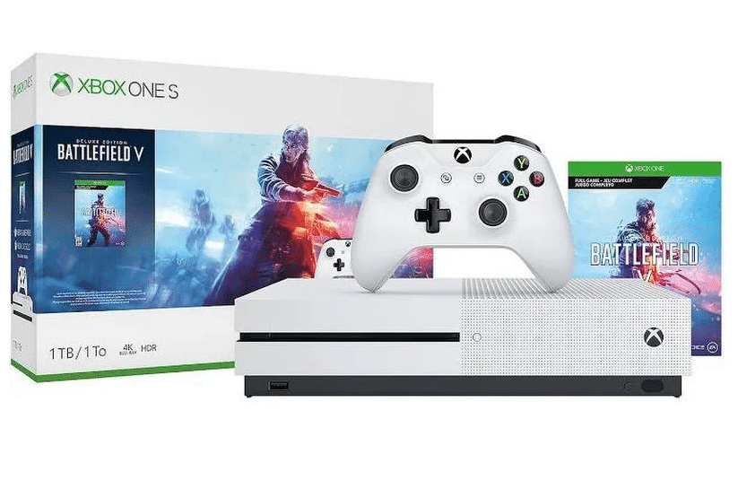 Microsoft Xbox One S Battlefield V Bundle 1 Tb Robot White 183 99 Xbox One S Xbox One S 1tb Xbox One