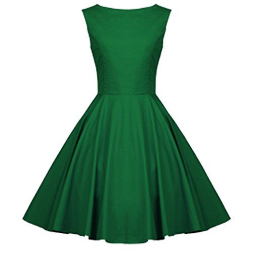 cool   Heroecol 50s Hepburn Style Vintage Retro Swing Dress Size S Color Green #fashion #beauty #lifestyle #vintage #beverage #vintagedress #hair #nails  Check more at http://www.musthave.ovh/heroecol-50s-hepburn-style-vintage-retro-swing-dress-size-s-color-green/