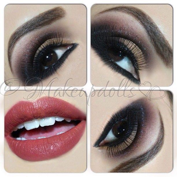 .@makeupdolls | Smoked out liner  . . #mywork #makeupdolls #makeup #selftaught #mua #f4f #l4...