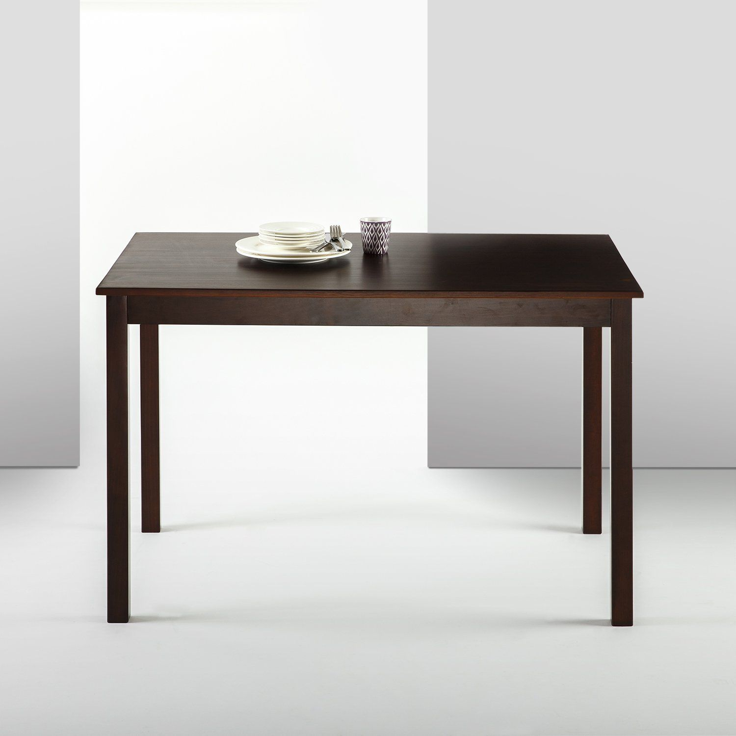 Zinus espresso wood dining table table only dining