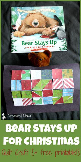 Bear Stays Up - Easy Quilt Craft Books become even better when you pair them with fun activities!  See what we did to go along with this month's Monthly Crafting Christmas Book Club selection!
