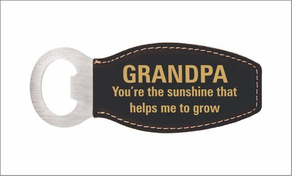 Grandpa Birthday Gift - Gifts for Grandfather - Christmas Bottle Opener from Grandchildren - Granddaughter - Grandson, LBO007