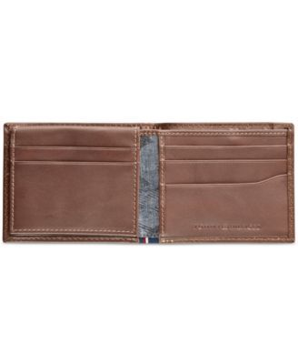 55bd603019 Tommy Hilfiger Men's Logan Zippered Leather Passcase Wallet - Tan/Beige