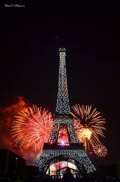 parisbeautiful:    Eiffel is on fire by Paul SKG on Flickr.