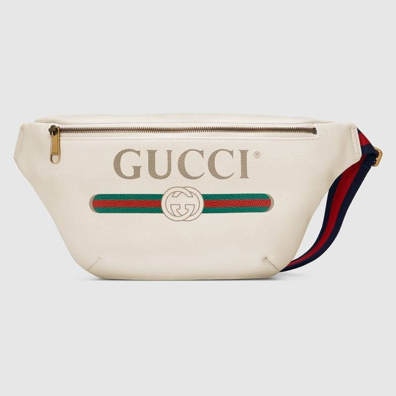 Canguro con Cinturón de Piel con Estampado Gucci  f0962c03e70