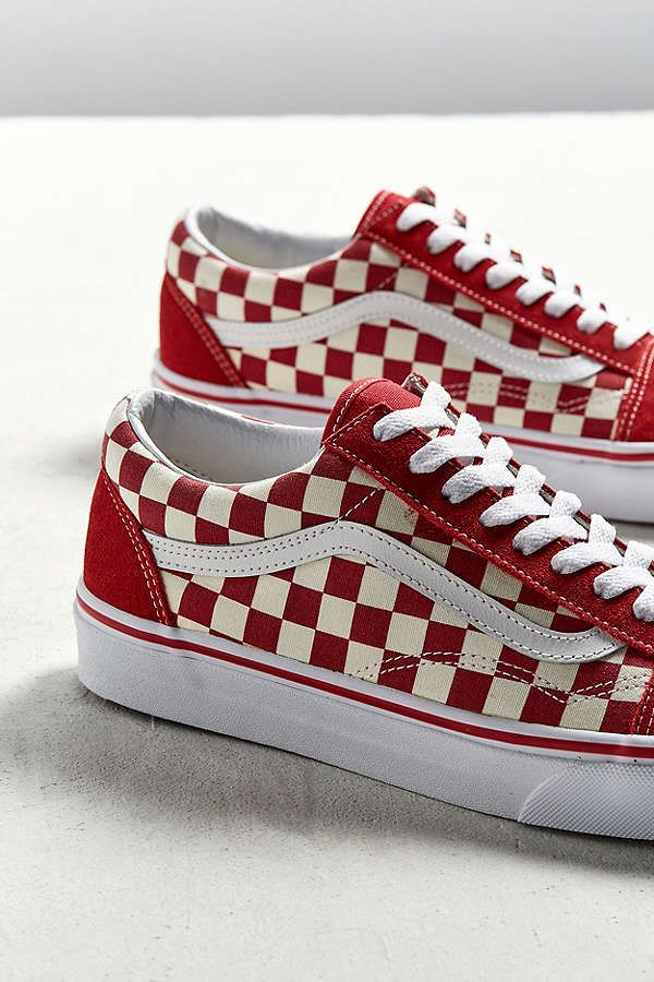 Vans Old Skool Red White Checkerboard Sneaker Urban Outfitters