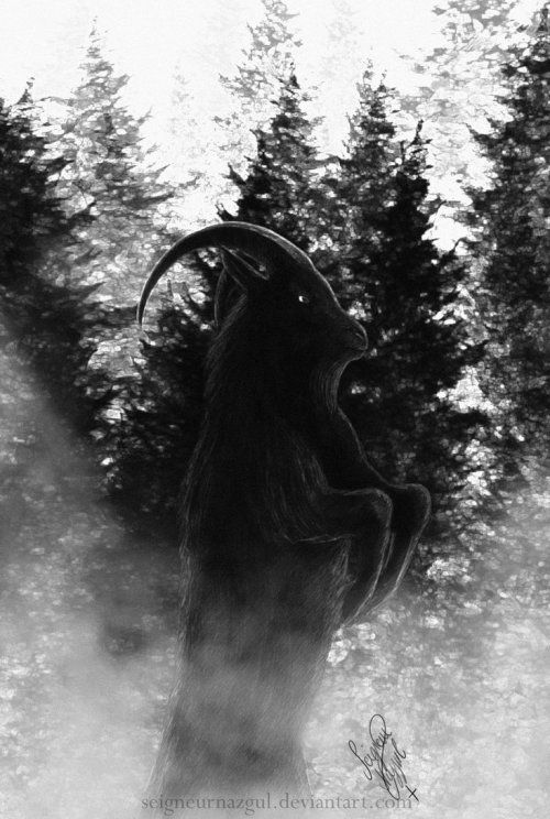 pixelated-nightmares:Black Phillip by SeigneurNazgul